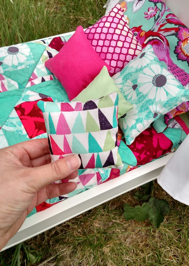 Little tiny pillows!